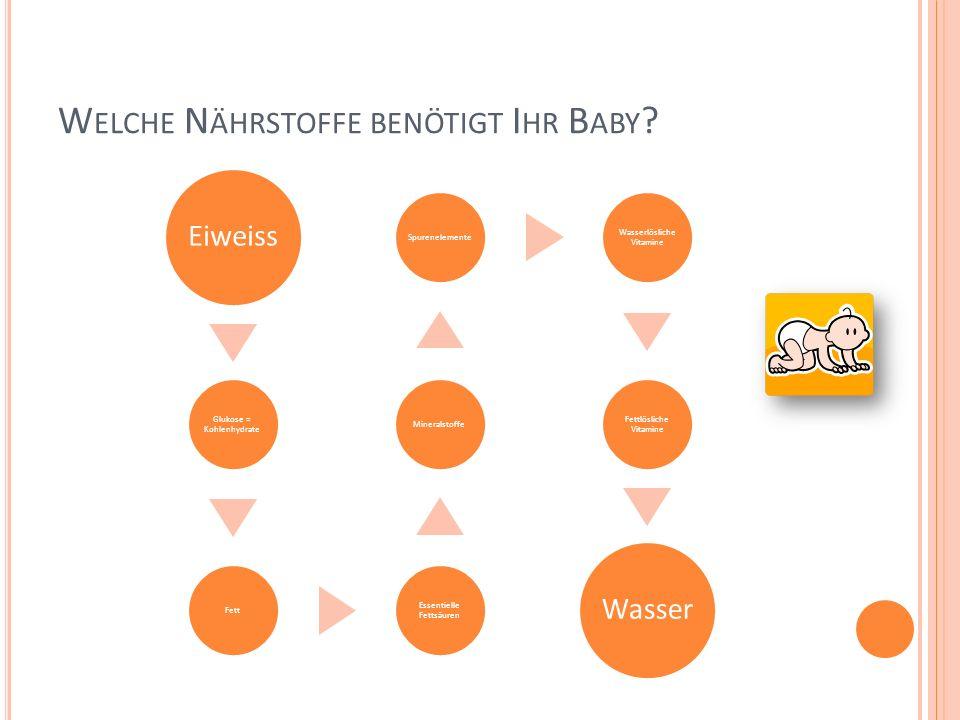 Welche Nährstoffe benötigt Ihr Baby