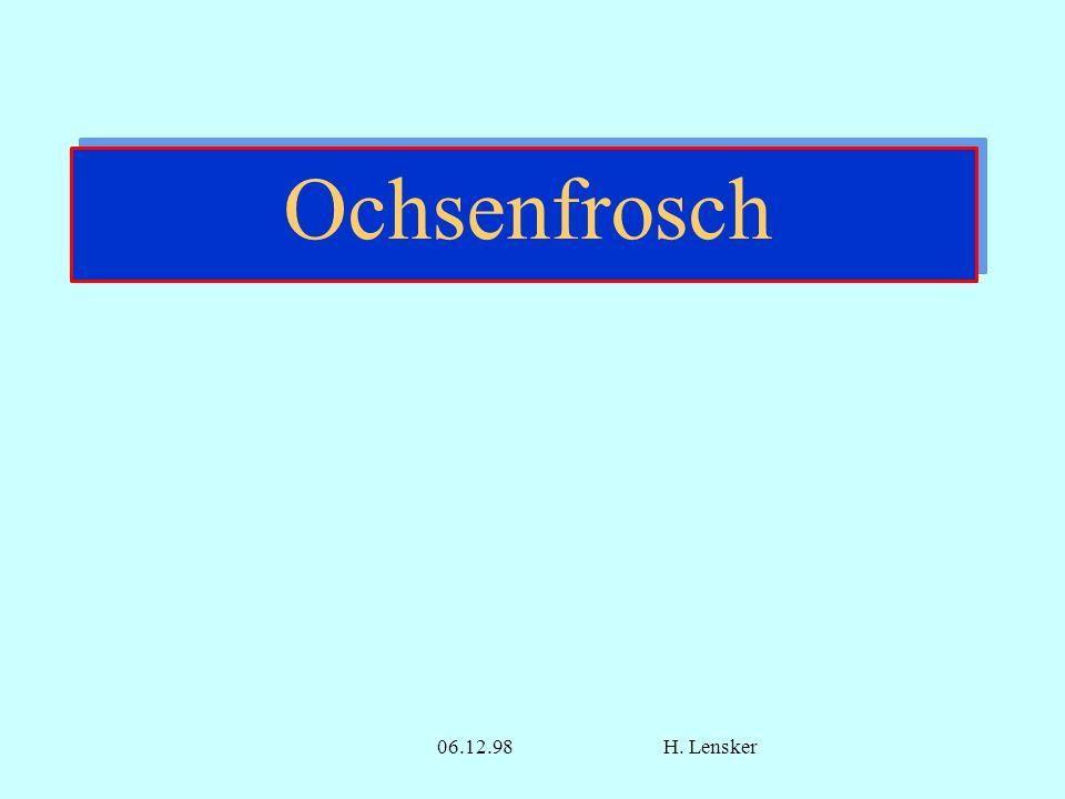 Ochsenfrosch Ochsenfrosch 06.12.98 H. Lensker