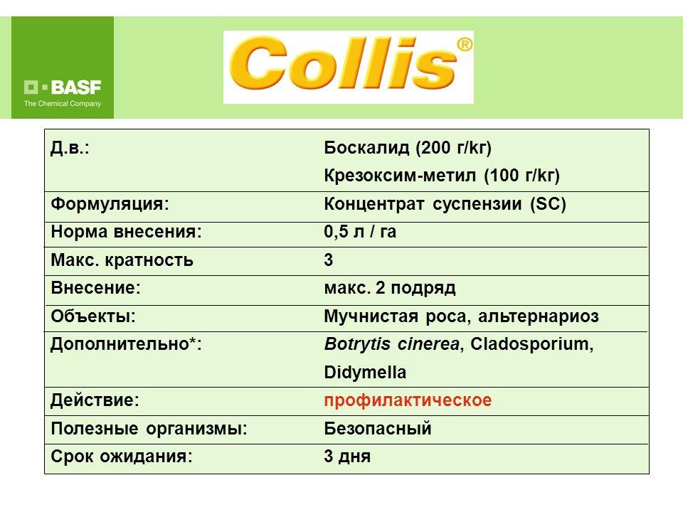 Крезоксим-метил (100 г/kг) Формуляция: Концентрат суспензии (SC)