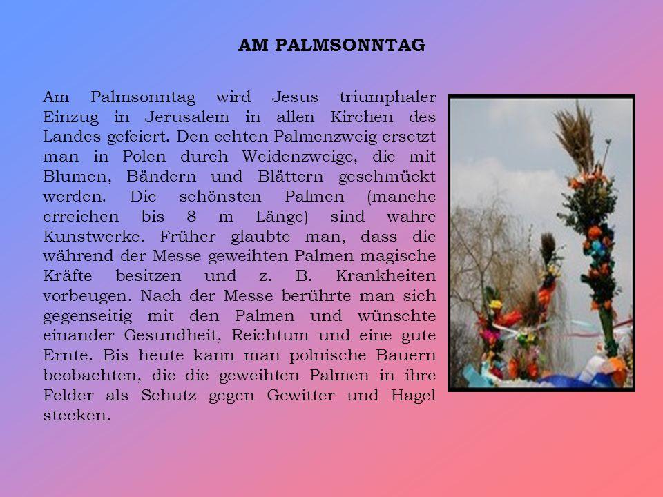 AM PALMSONNTAG