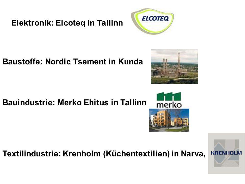 Elektronik: Elcoteq in Tallinn