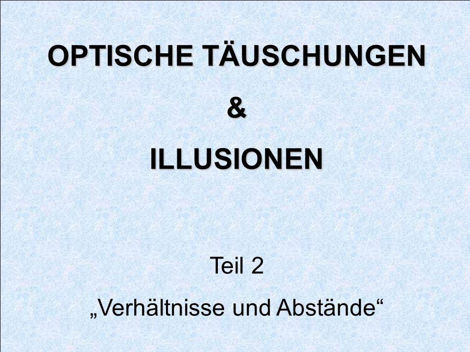 """""""Verhältnisse und Abstände"""