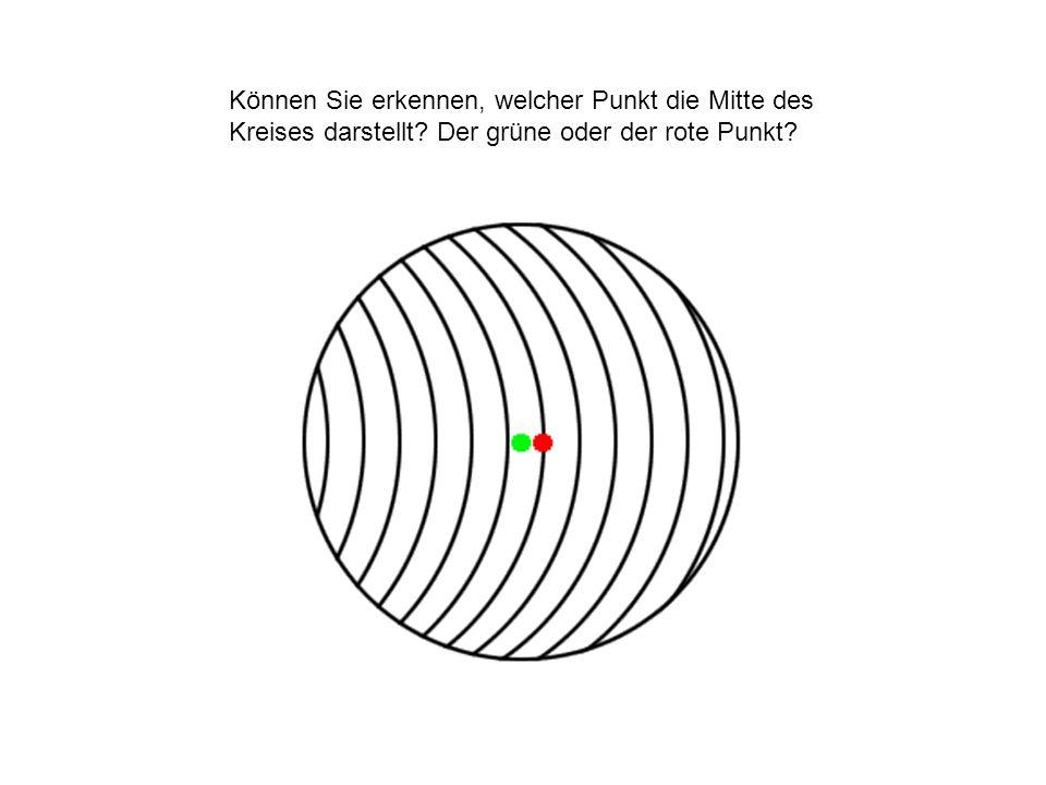 Können Sie erkennen, welcher Punkt die Mitte des Kreises darstellt