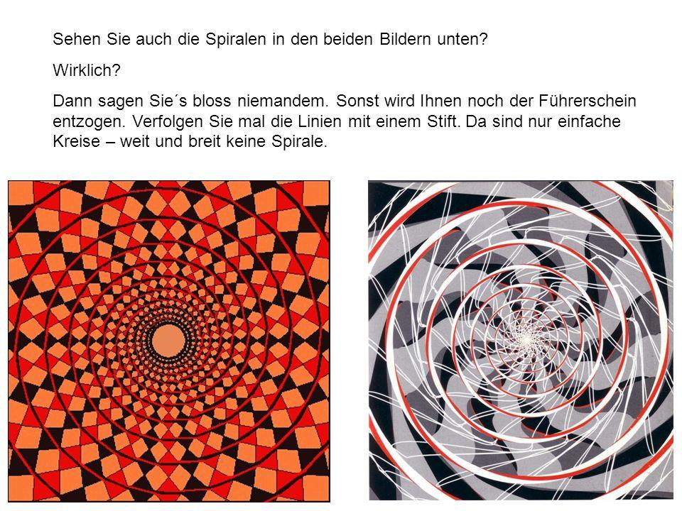 Sehen Sie auch die Spiralen in den beiden Bildern unten