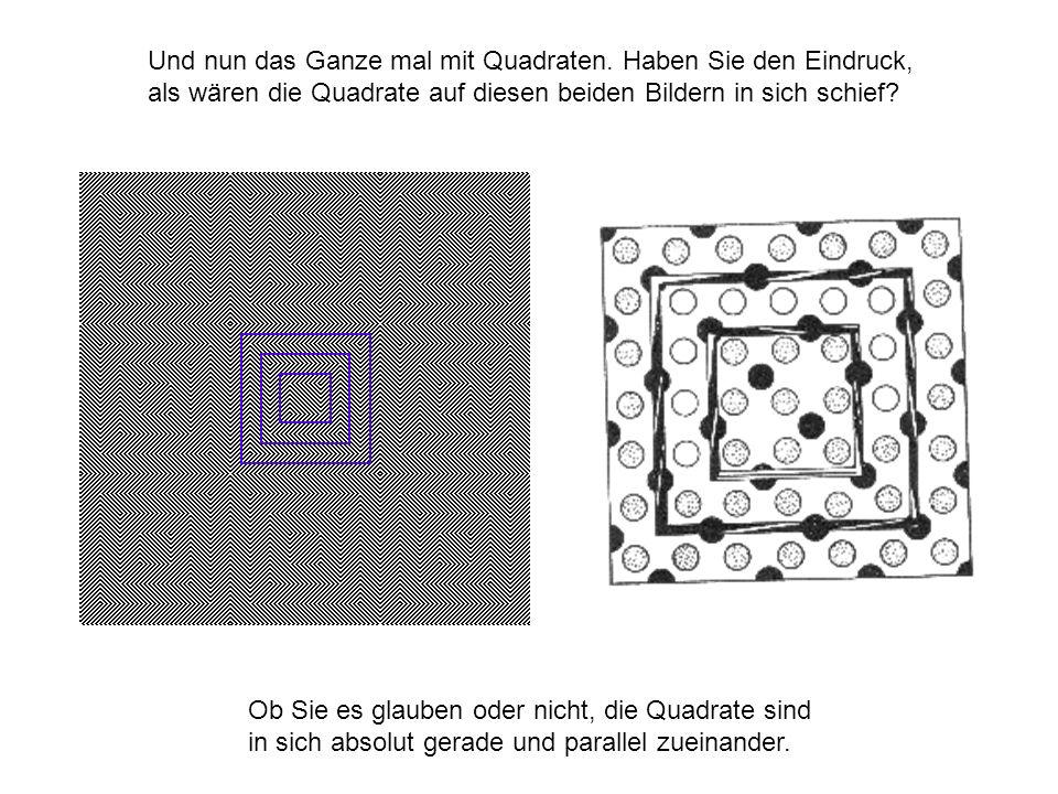 Und nun das Ganze mal mit Quadraten