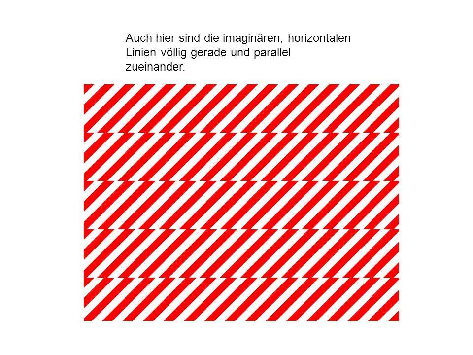Auch hier sind die imaginären, horizontalen Linien völlig gerade und parallel zueinander.