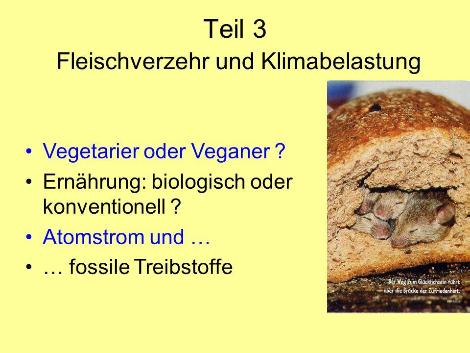 Teil 3 Fleischverzehr und Klimabelastung