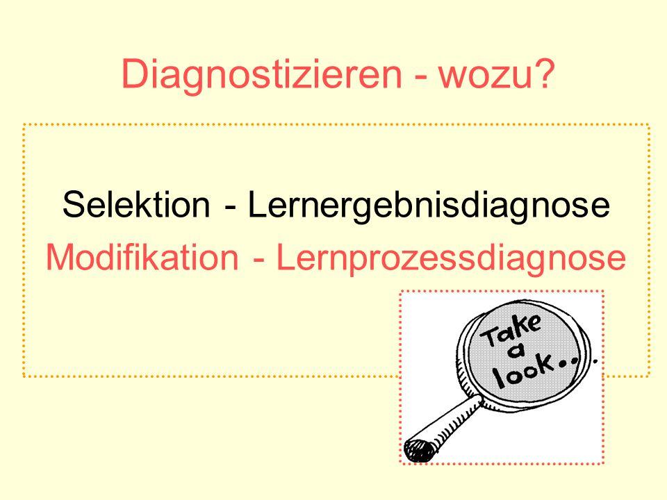 Diagnostizieren - wozu