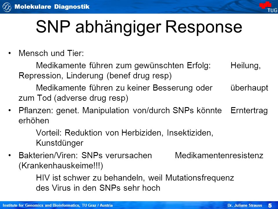 SNP abhängiger Response