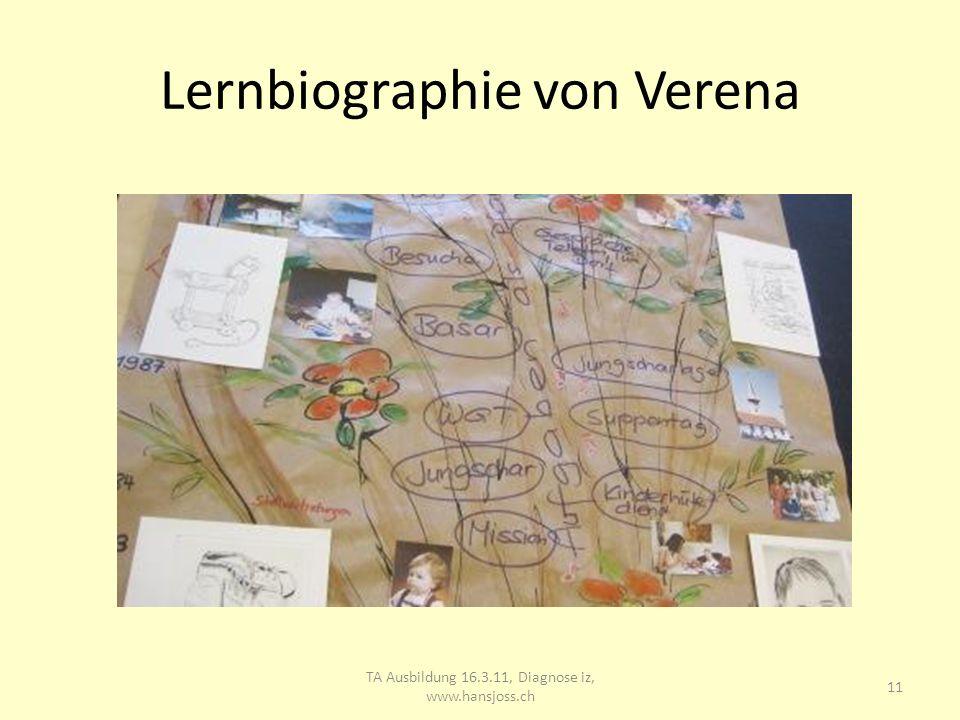 Lernbiographie von Verena