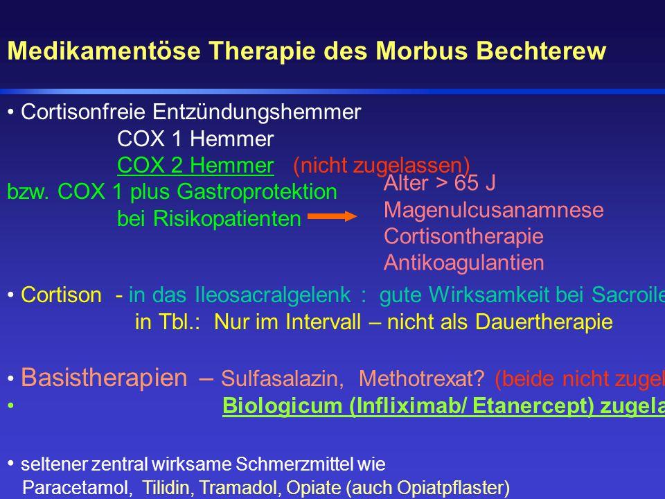 Medikamentöse Therapie des Morbus Bechterew