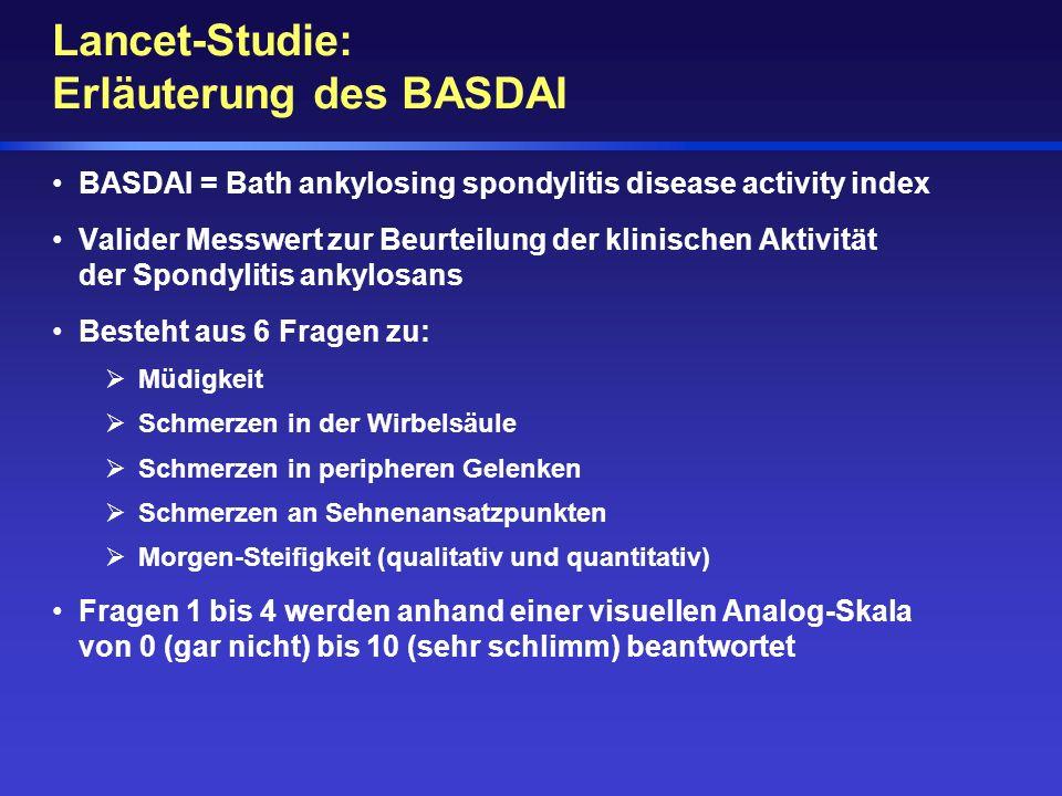 Lancet-Studie: Erläuterung des BASDAI