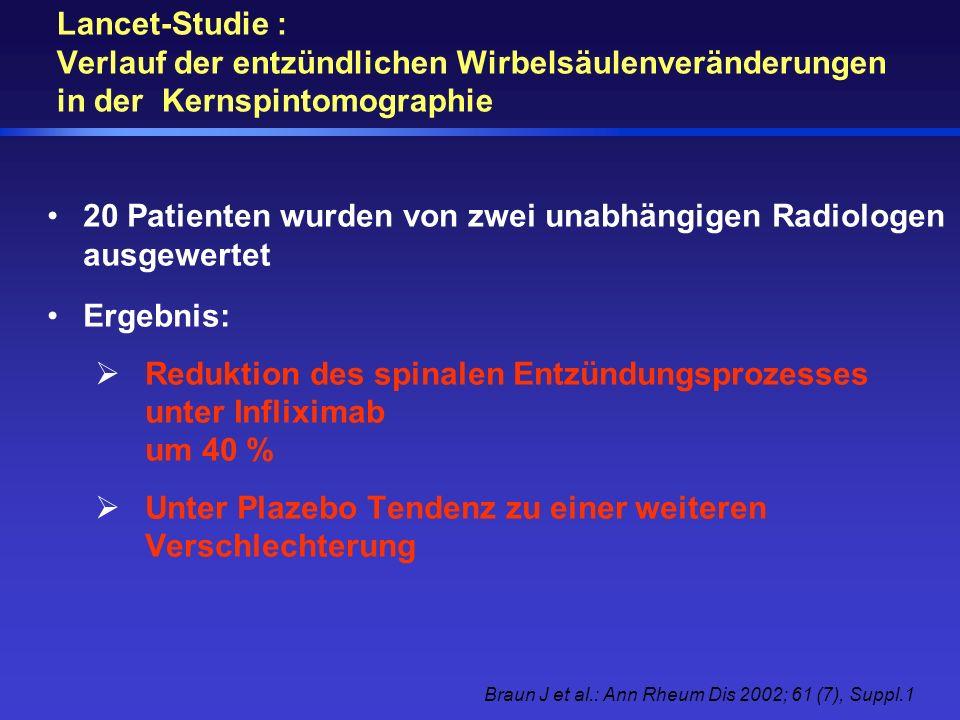 20 Patienten wurden von zwei unabhängigen Radiologen ausgewertet