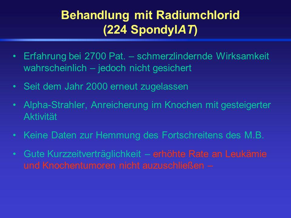 Behandlung mit Radiumchlorid (224 SpondylAT)