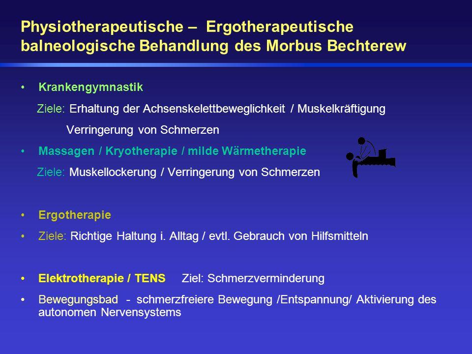 Physiotherapeutische – Ergotherapeutische balneologische Behandlung des Morbus Bechterew