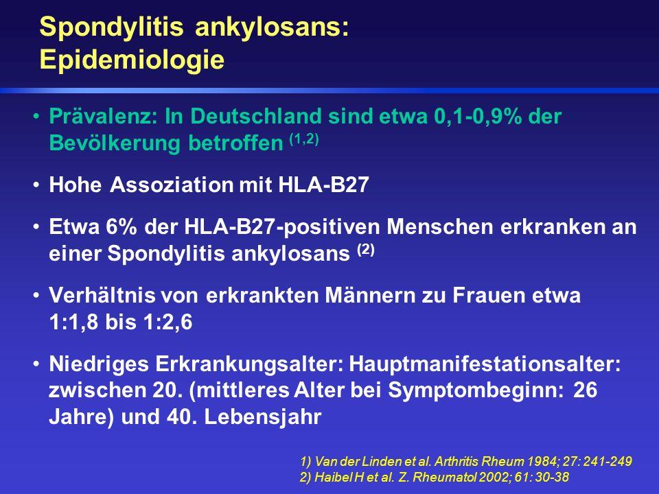 Spondylitis ankylosans: Epidemiologie