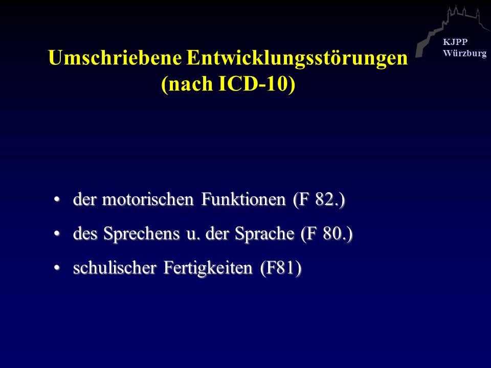 Umschriebene Entwicklungsstörungen (nach ICD-10)