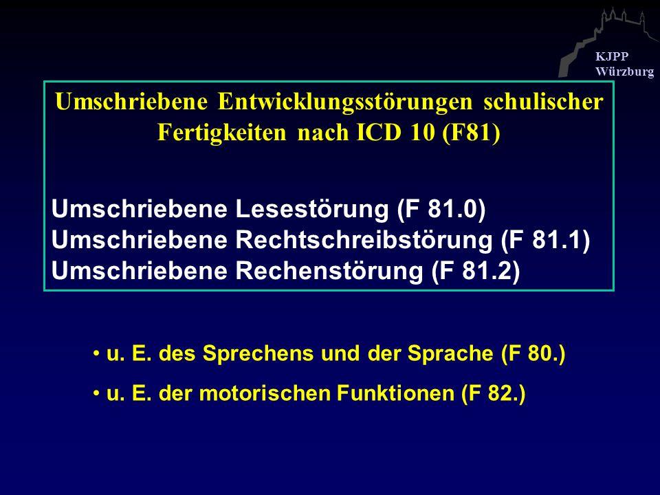 Umschriebene Lesestörung (F 81.0)