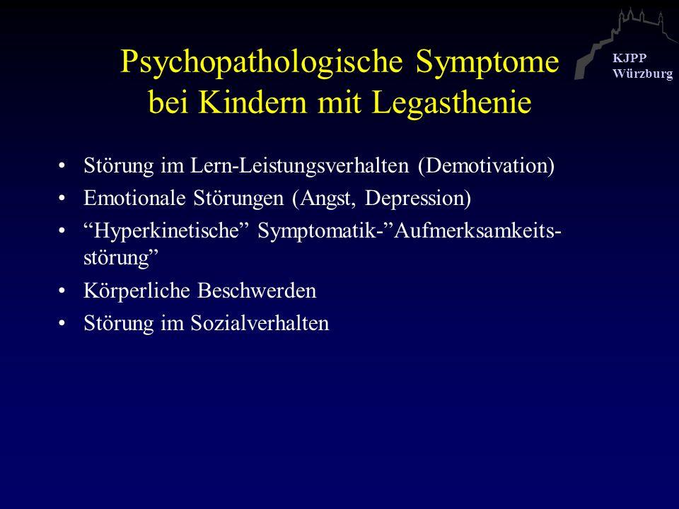 Psychopathologische Symptome bei Kindern mit Legasthenie