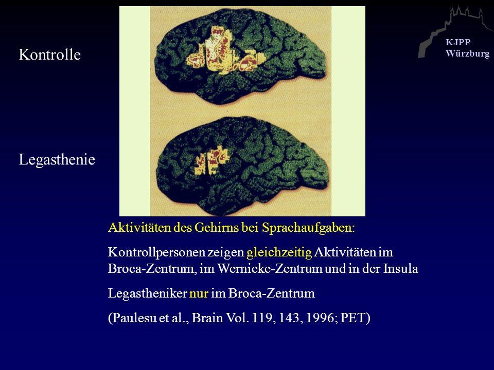Kontrolle Legasthenie Aktivitäten des Gehirns bei Sprachaufgaben: