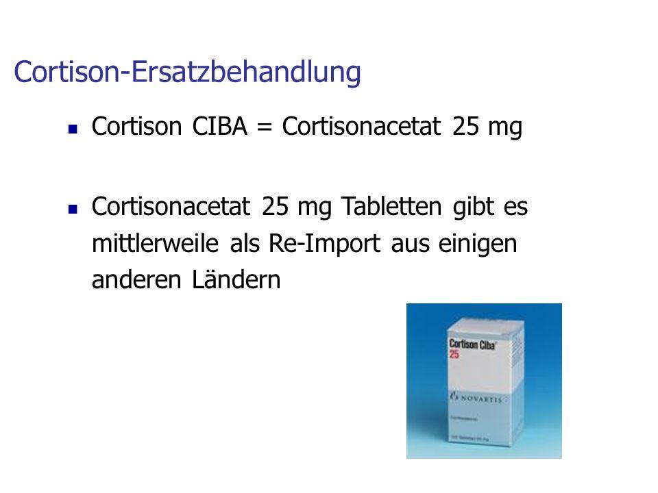 Cortison-Ersatzbehandlung
