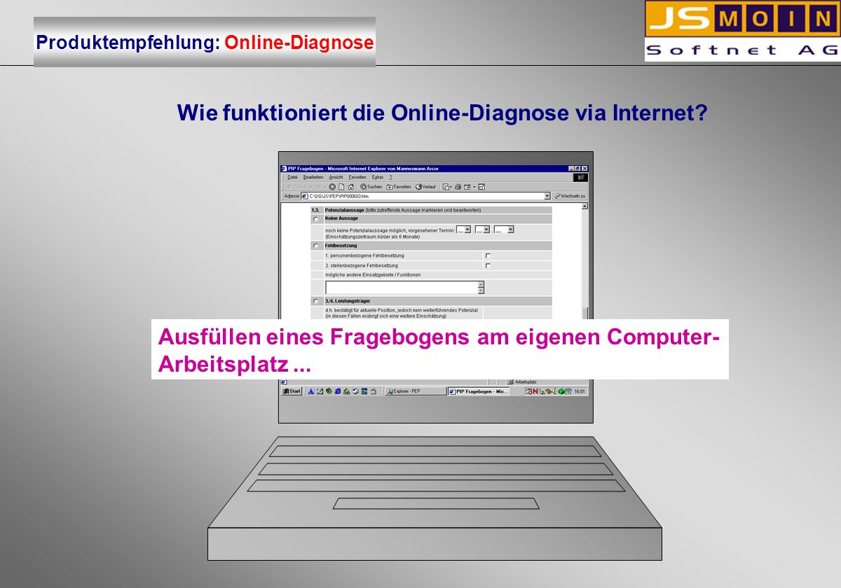 Wie funktioniert die Online-Diagnose via Internet