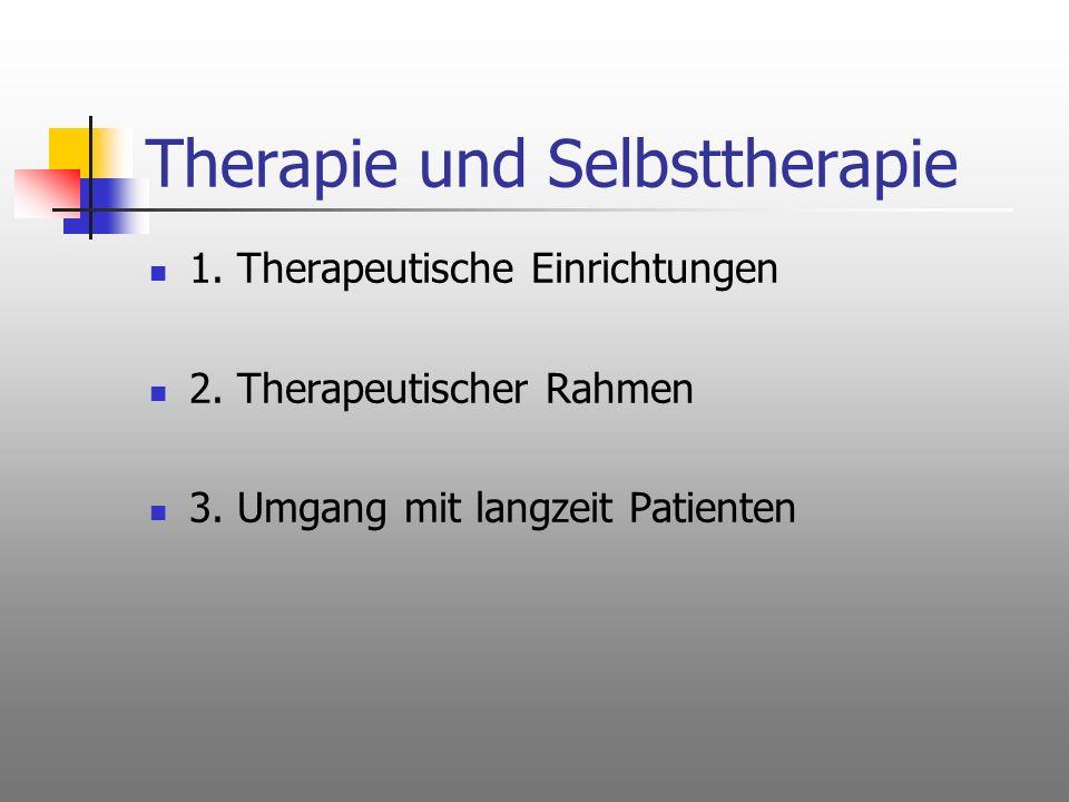 Therapie und Selbsttherapie
