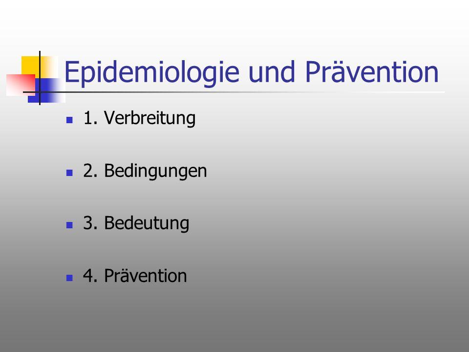 Epidemiologie und Prävention