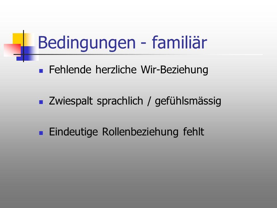Bedingungen - familiär