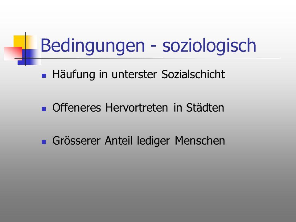 Bedingungen - soziologisch
