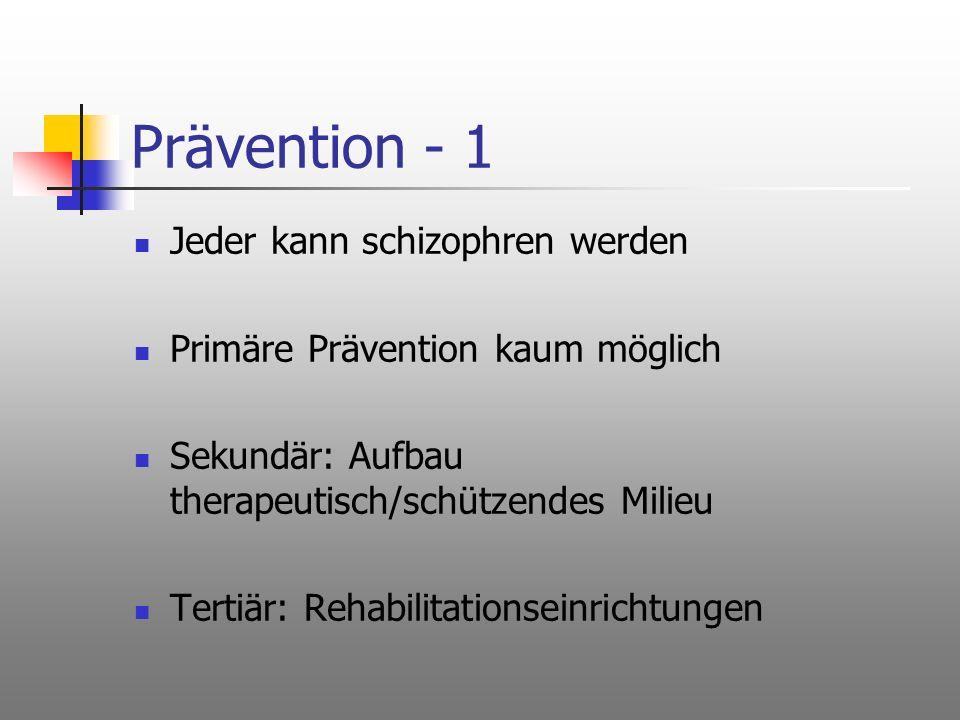 Prävention - 1 Jeder kann schizophren werden
