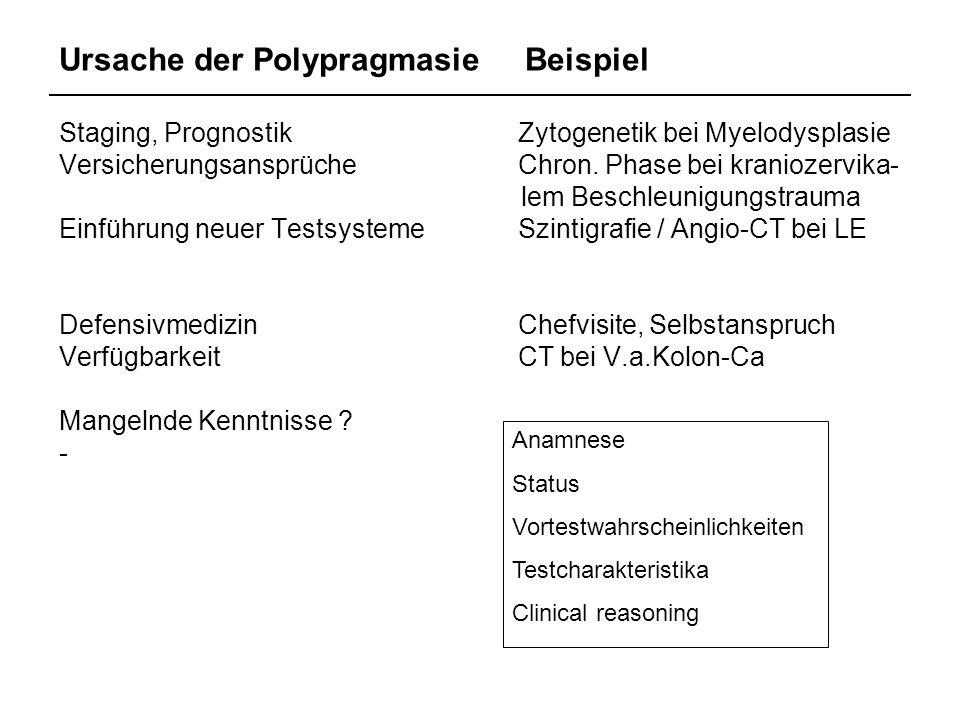 Ursache der Polypragmasie Beispiel