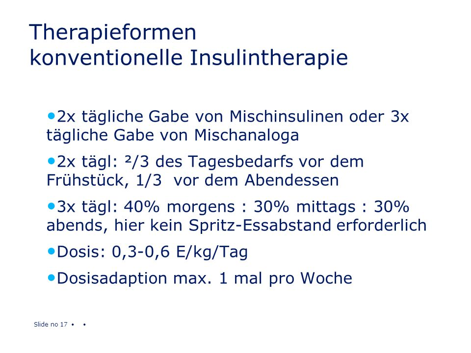 Therapieformen konventionelle Insulintherapie