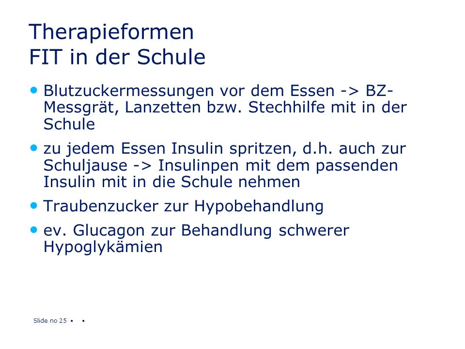 Therapieformen FIT in der Schule