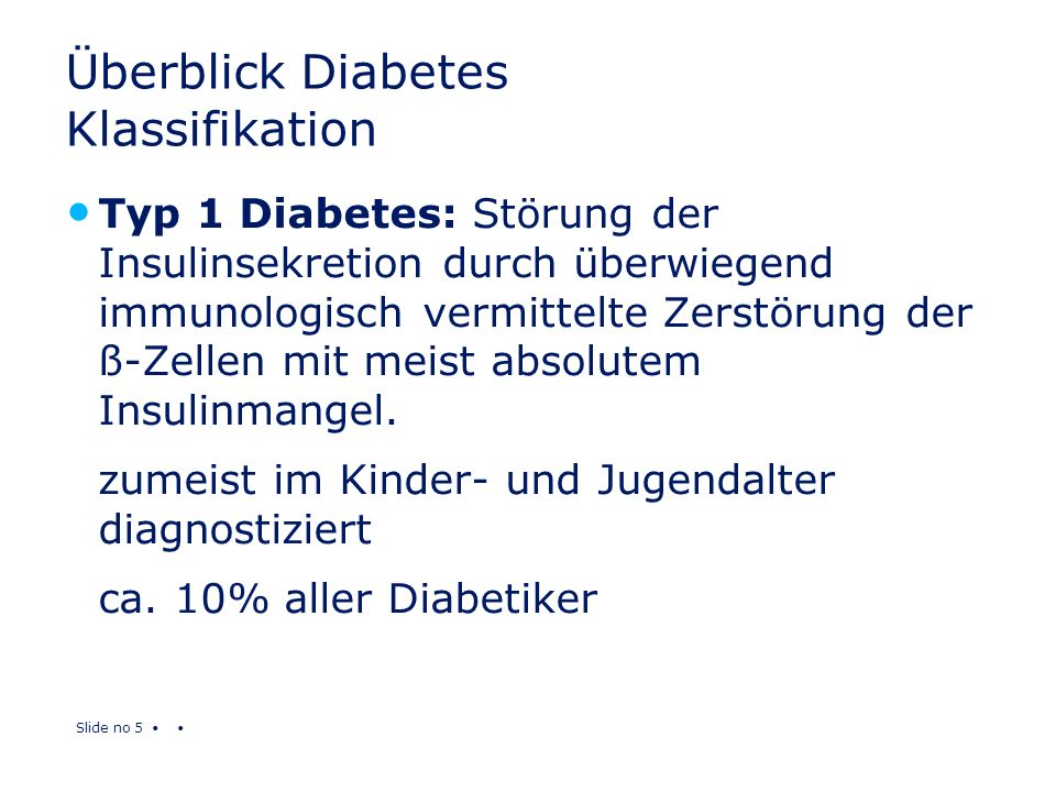 Überblick Diabetes Klassifikation