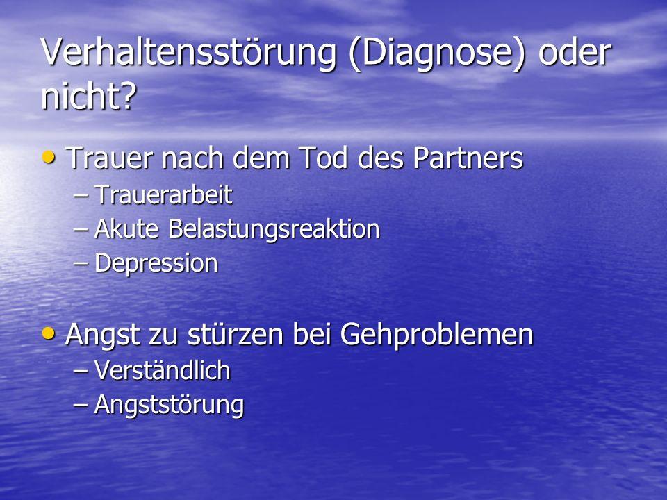 Verhaltensstörung (Diagnose) oder nicht