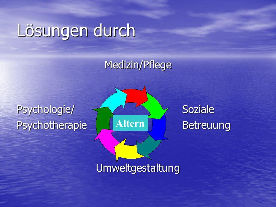 Lösungen durch Medizin/Pflege Psychologie/ Soziale