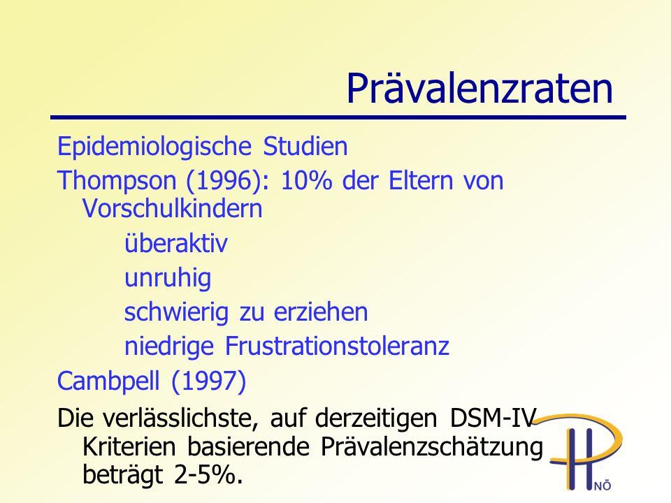 Prävalenzraten Epidemiologische Studien