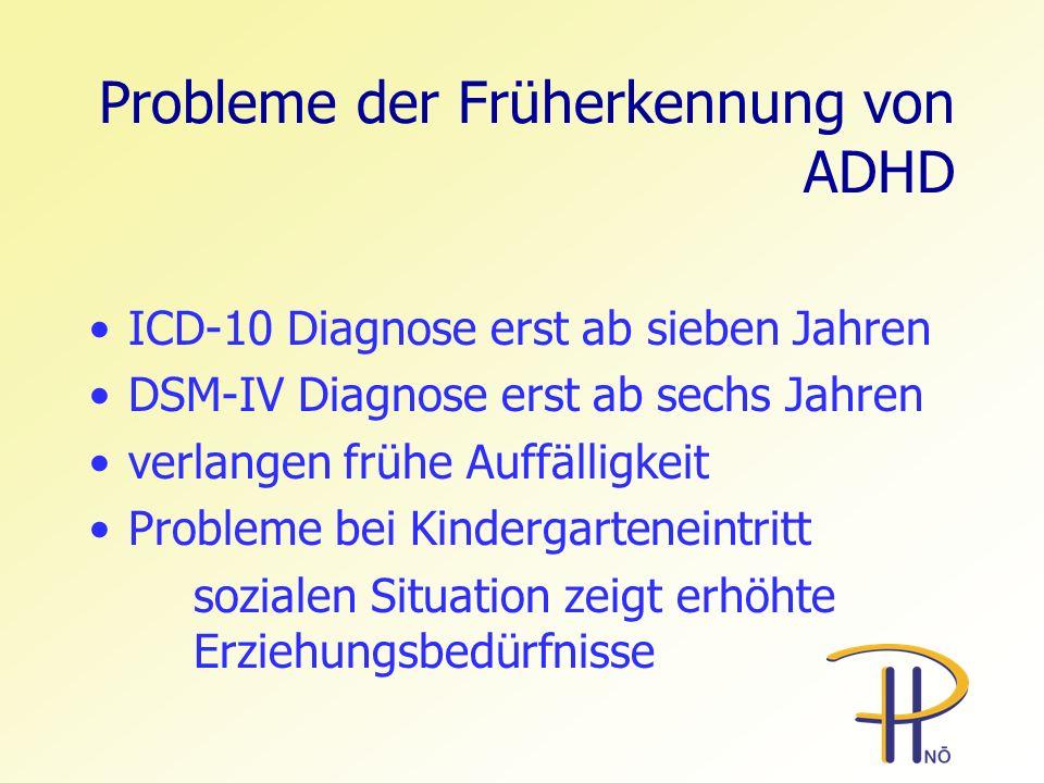 Probleme der Früherkennung von ADHD