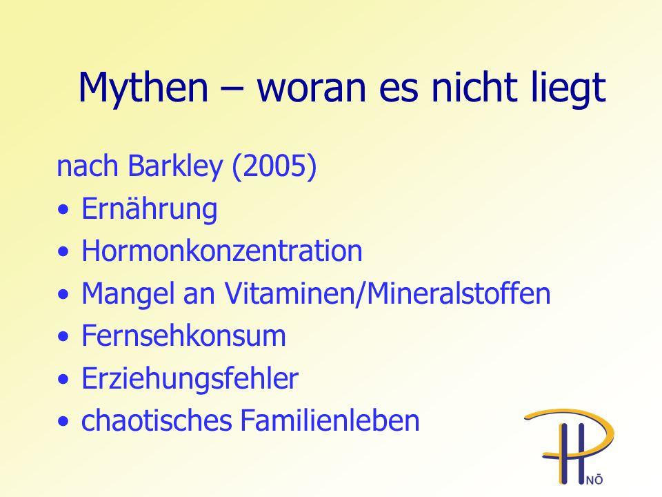 Mythen – woran es nicht liegt