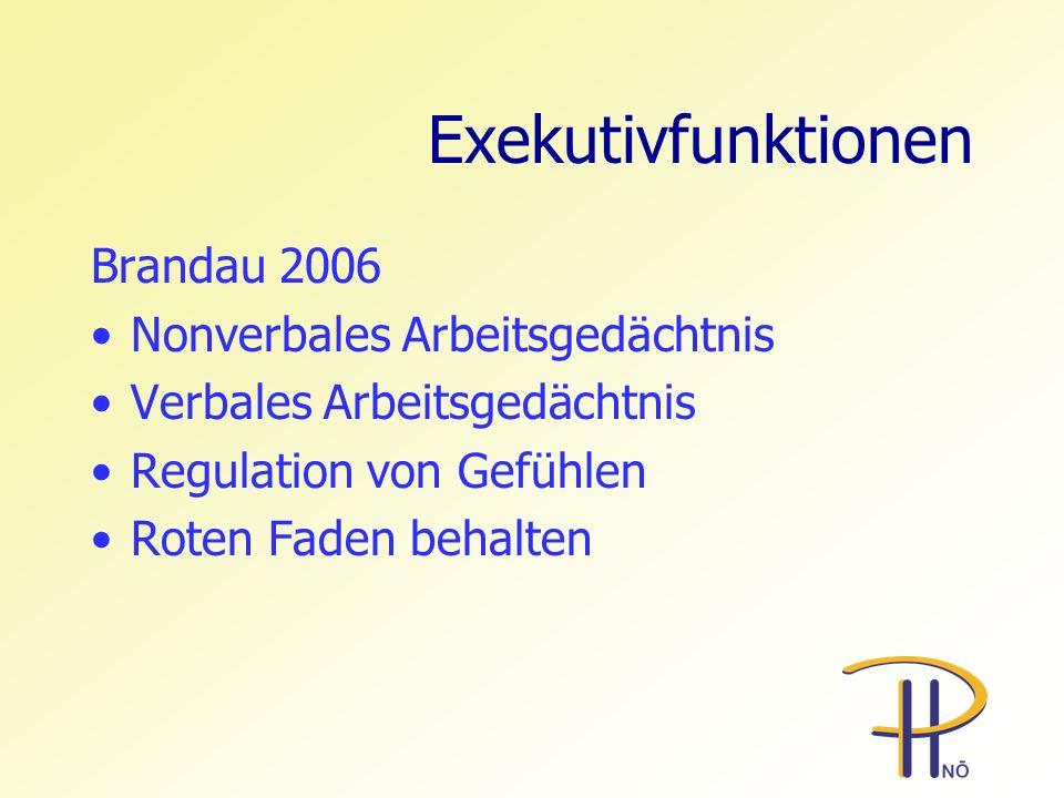 Exekutivfunktionen Brandau 2006 Nonverbales Arbeitsgedächtnis