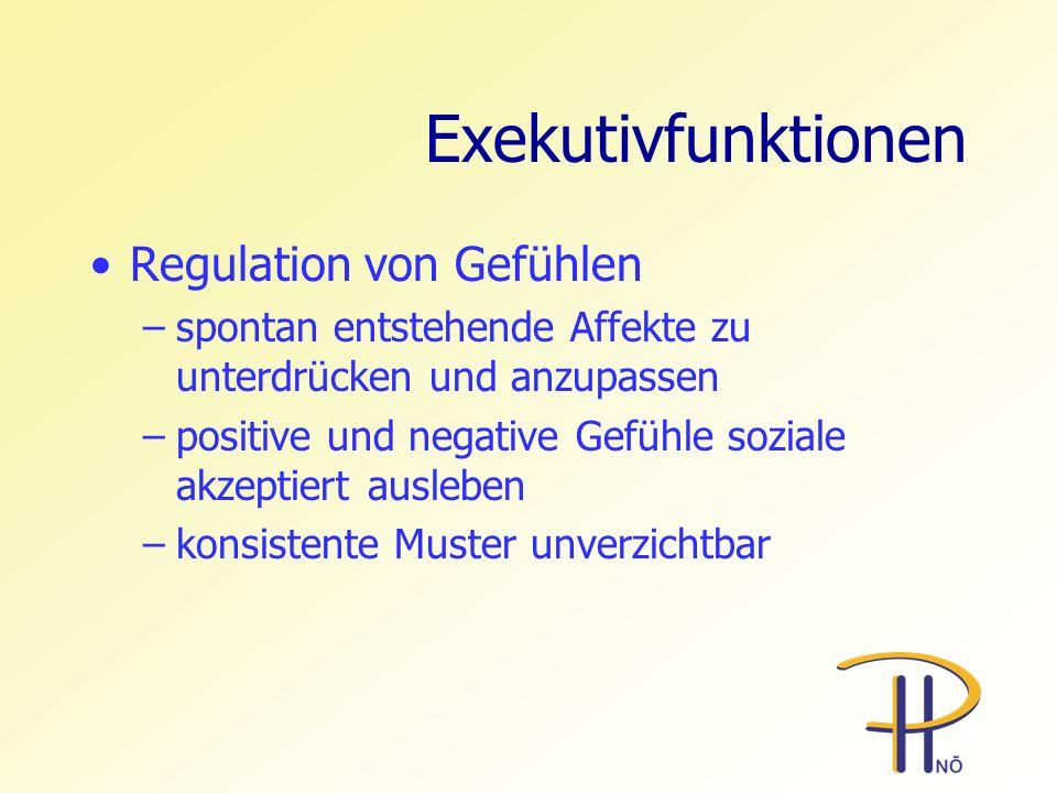 Exekutivfunktionen Regulation von Gefühlen
