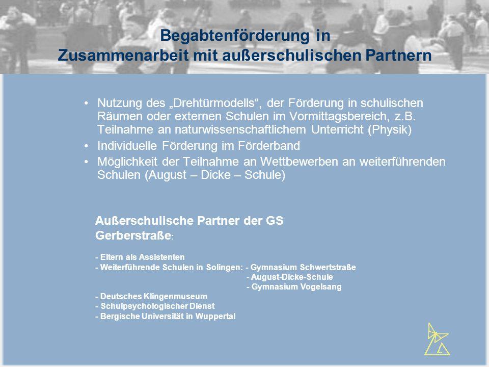 Begabtenförderung in Zusammenarbeit mit außerschulischen Partnern