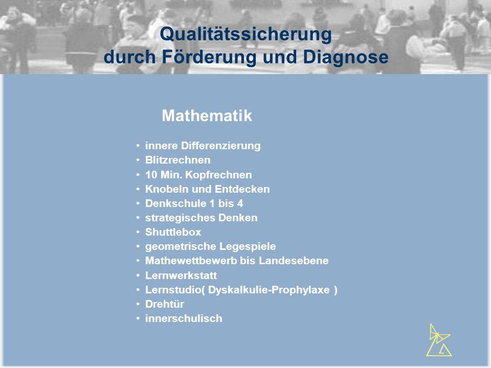 Qualitätssicherung durch Förderung und Diagnose