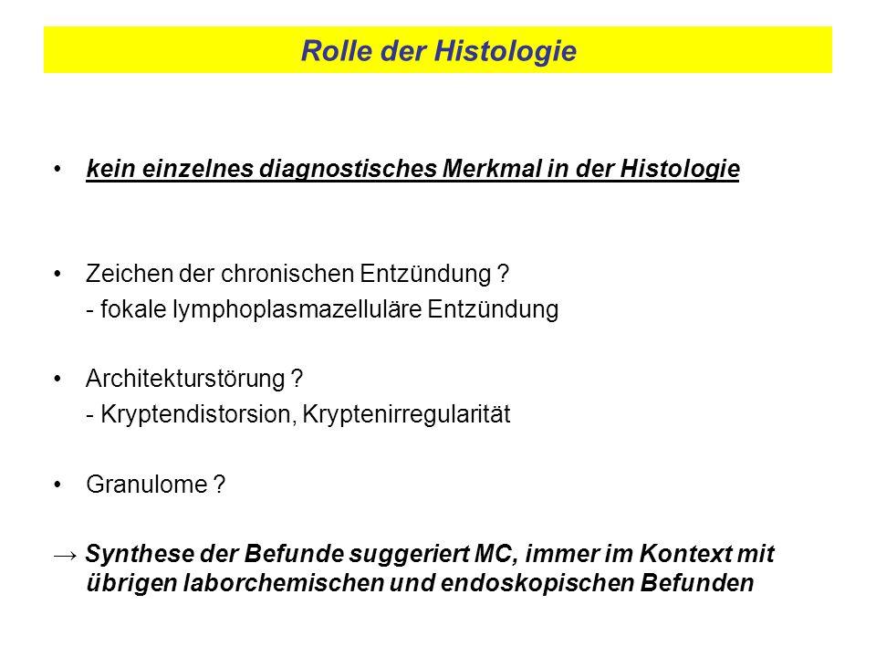 Rolle der Histologie kein einzelnes diagnostisches Merkmal in der Histologie. Zeichen der chronischen Entzündung