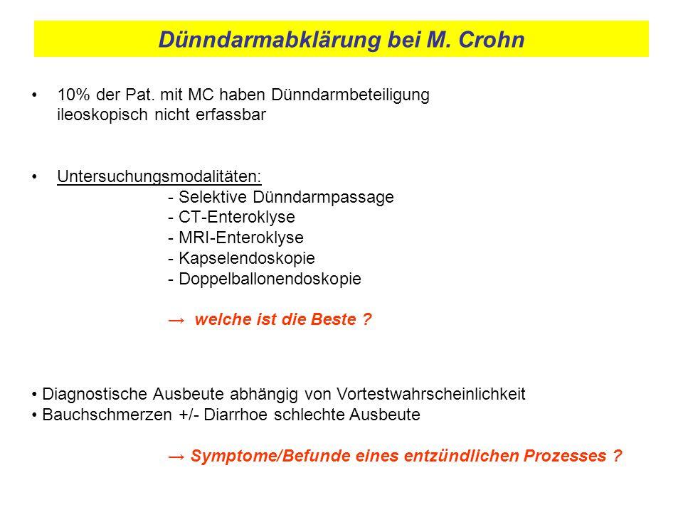 Dünndarmabklärung bei M. Crohn