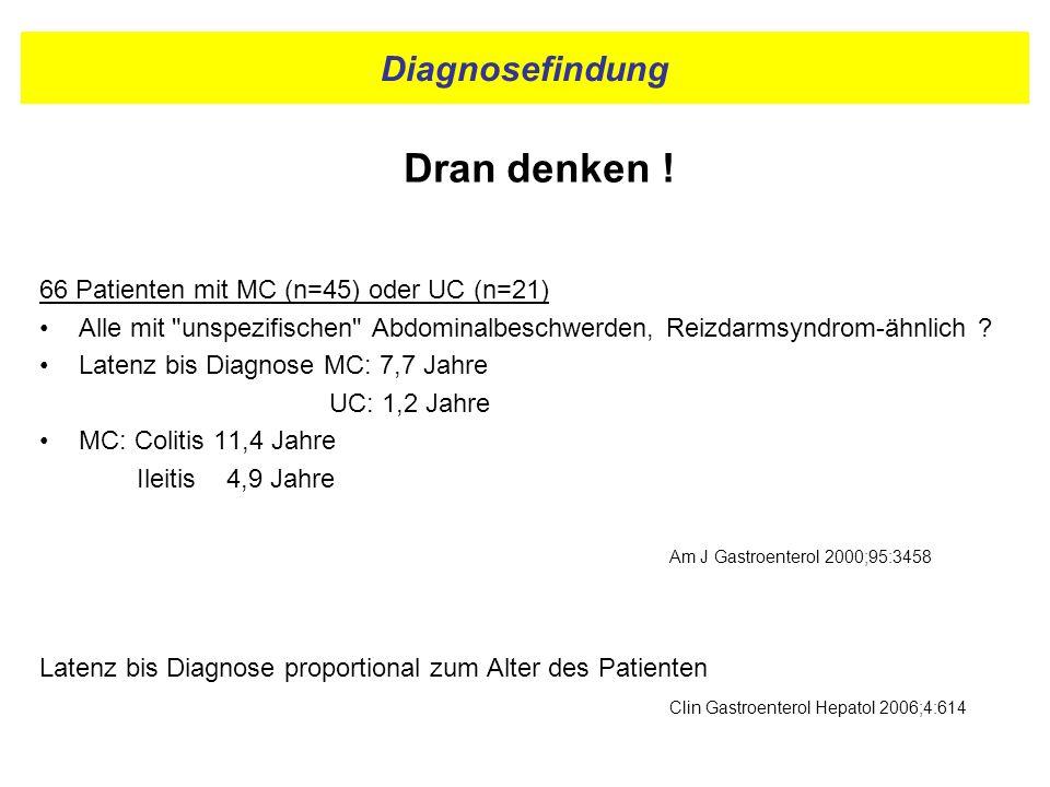 Diagnosefindung Dran denken !