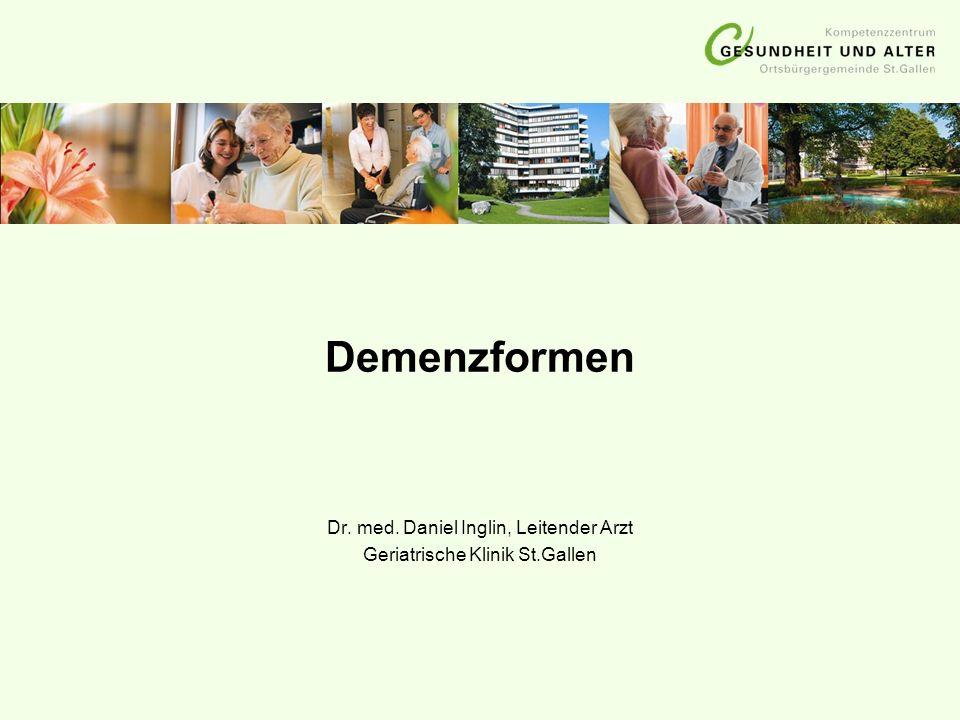 Dr. med. Daniel Inglin, Leitender Arzt Geriatrische Klinik St.Gallen