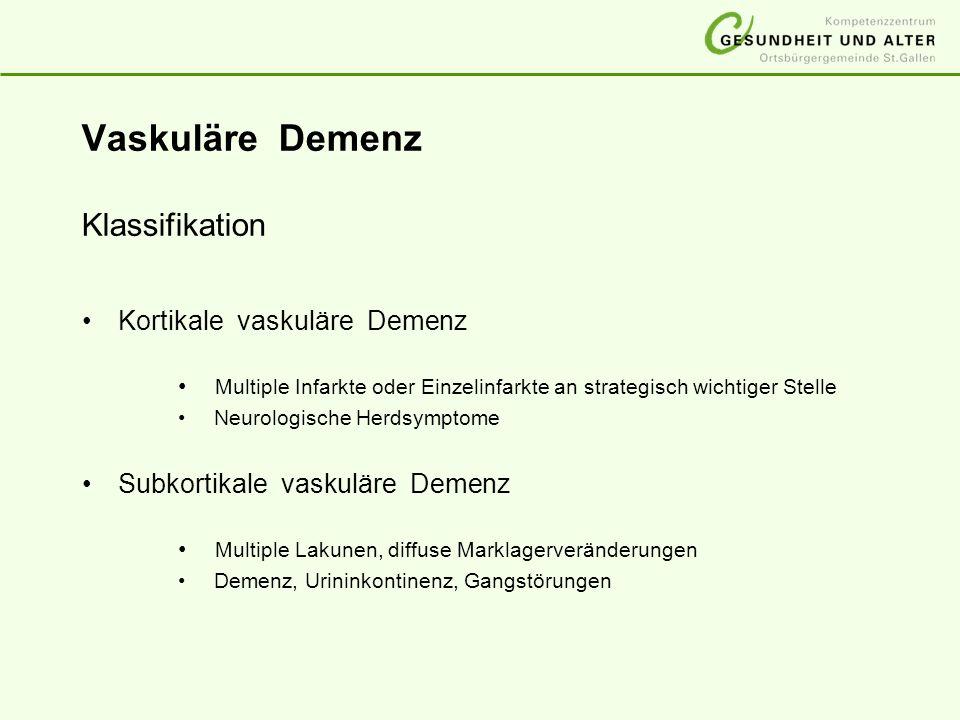 Vaskuläre Demenz Klassifikation