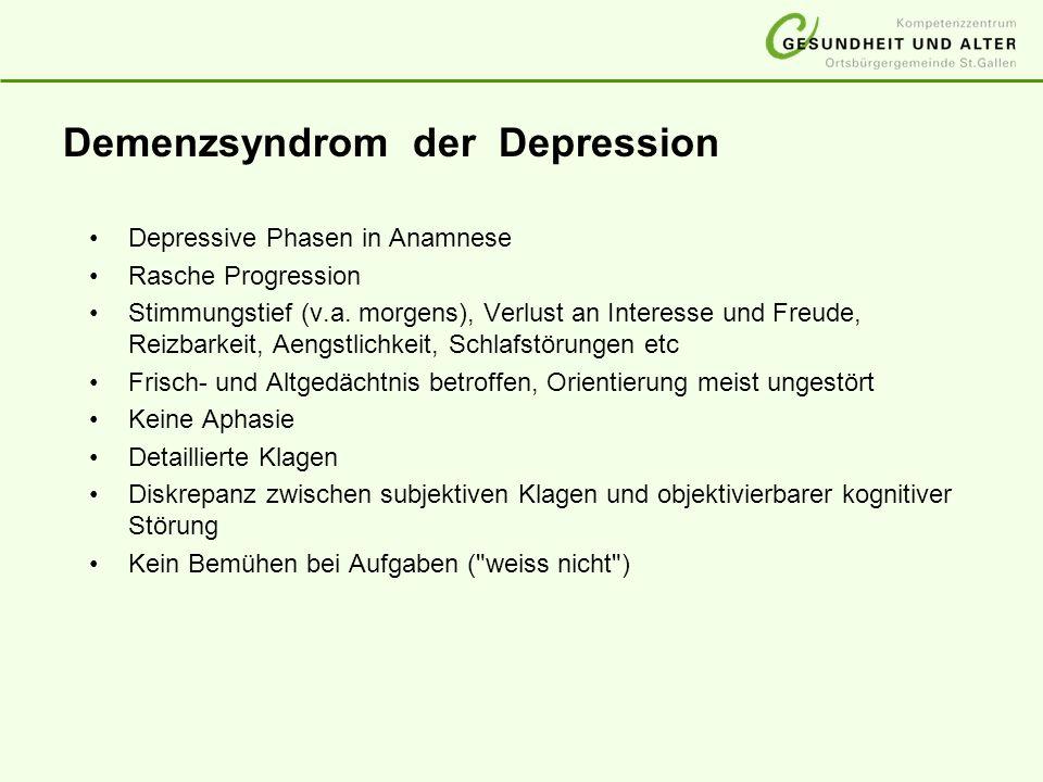 Demenzsyndrom der Depression